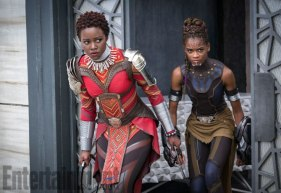 Marvel Studios' BLACK PANTHER L to R: Nakia (Lupita Nyong'o) and Shuri (Letitia Wright) Credit: Matt Kennedy/©Marvel Studios 2018