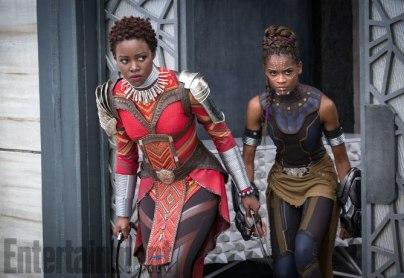 Marvel Studios' BLACK PANTHER L to R: Nakia (Lupita Nyong'o) and Shuri (Letitia Wright) Credit: Matt Kennedy/©Marvel Studios 2018