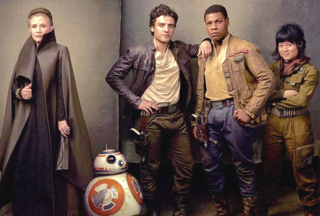 leia-organa-bb-8-poe-dameron-finn-and-rose-tico-star-wars-the-last-jedi-wallpaper-8100