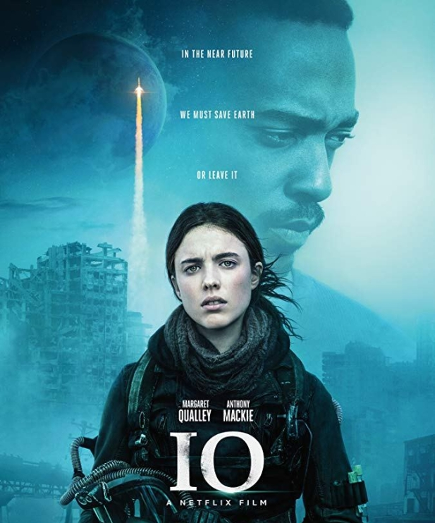 Netflix's IO- Poster with Margaret Qualley & Anthony Mackie
