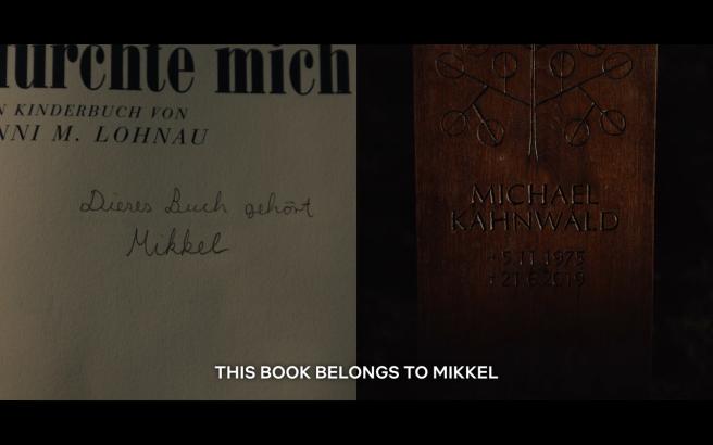 Dark S1Ep5 Mikkel's Book:Michael's Gravestone