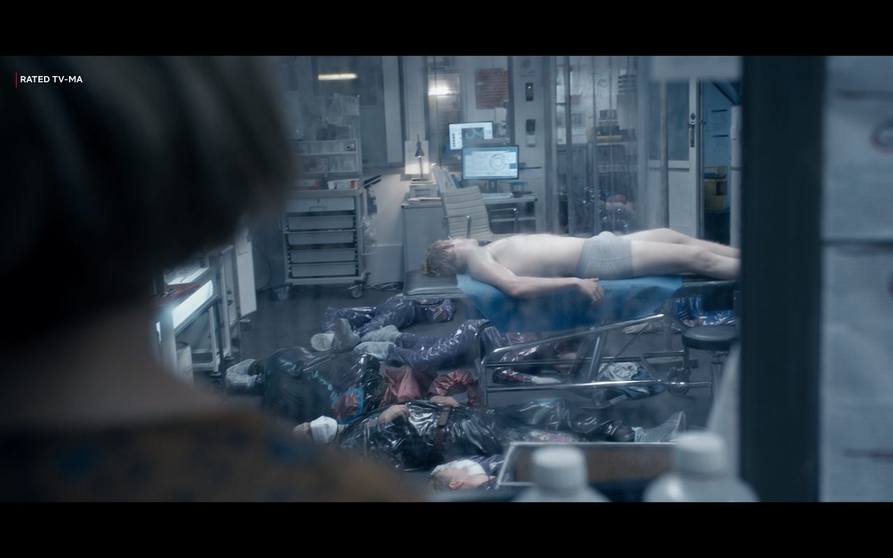 The Rain S2Ep1 Rasmus Surrounded by Bodies