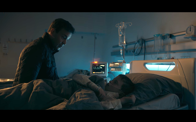 The Rain S2Ep5 Sten Sits at Young Rasmus Bedside