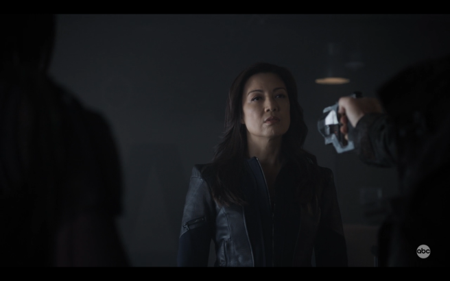 AoS S6Ep4 NotCoulson Points Gun at May