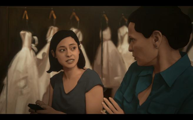 Undone S1Ep3 Alma&Camila at Dress Shop