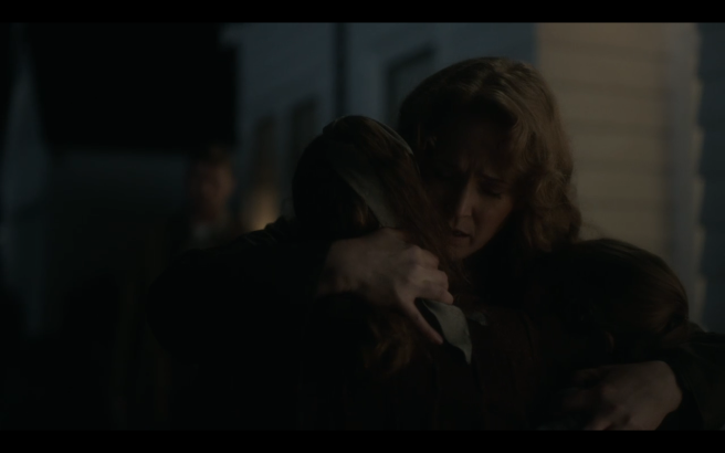 High Castle S4Ep1 Helen Hugs Girls