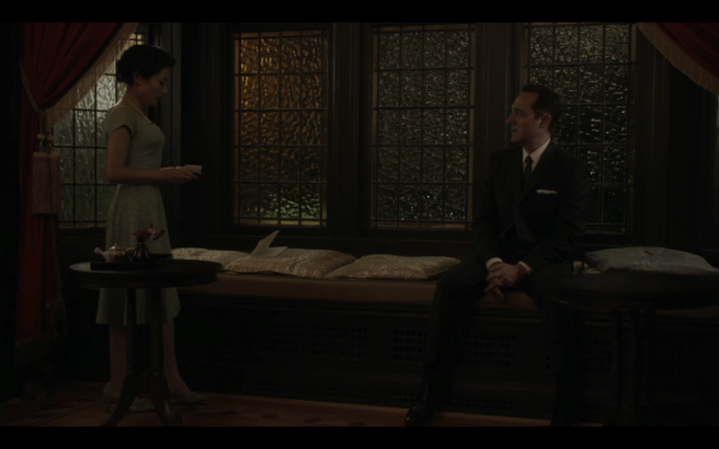 High Castle S4Ep2 Yukiko Serves Childan Tea