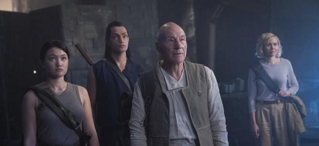 Star Trek: Picard S1E9 Soji, Elnor, Picard, Agnes