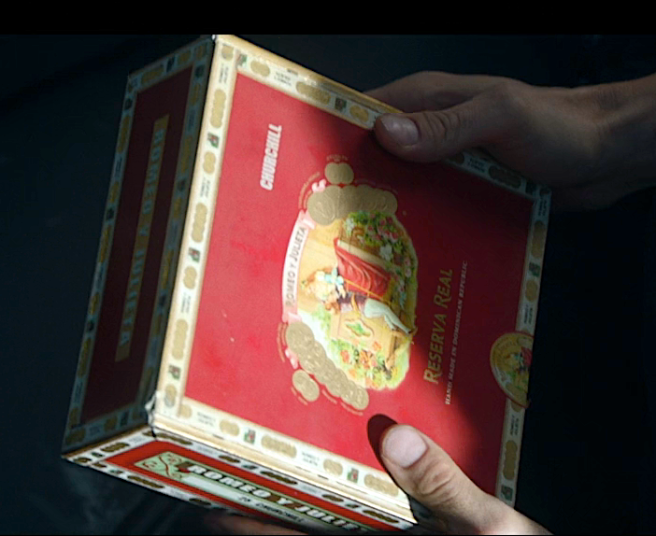 Rios' Red Is Real cigar box with all of his important memories inside.