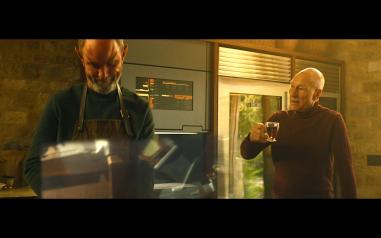 Star Trek Picard S1E1 Picard Drinks Tea While Zhaban Cooks