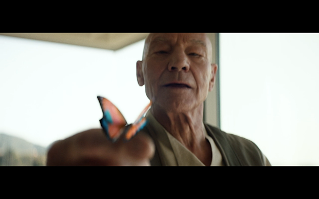 Star Trek Picard S1E10 Picard & Color Shifting Butterfly
