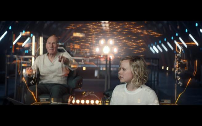 Star Trek Picard S1E10 Picard Pilots Ship Agnes Shows Romulan Fleet
