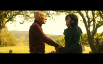 Star Trek Picard S1E8 Picard and Dahj at Chateau Picard