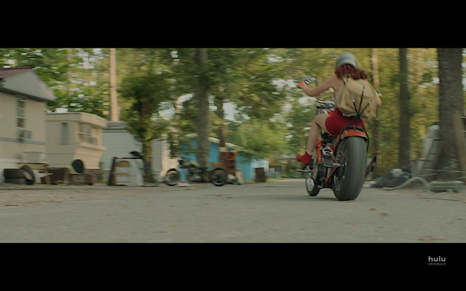 Reprisal S1E6 Mer Rides Away on Gertrude's Bike