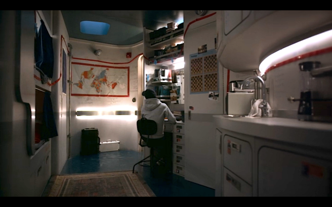 Snowpiercer S1Ep4 Another View of Melanie's Cabin- with Map
