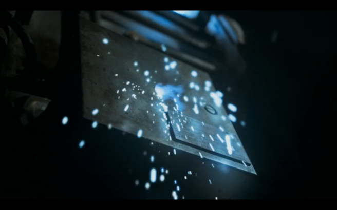Snowpiercer S1Ep4 Bullet Hole in Junction Box
