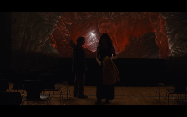 Dark S3Ep1 Alt martha Walks Away from jonas in School Auditorium