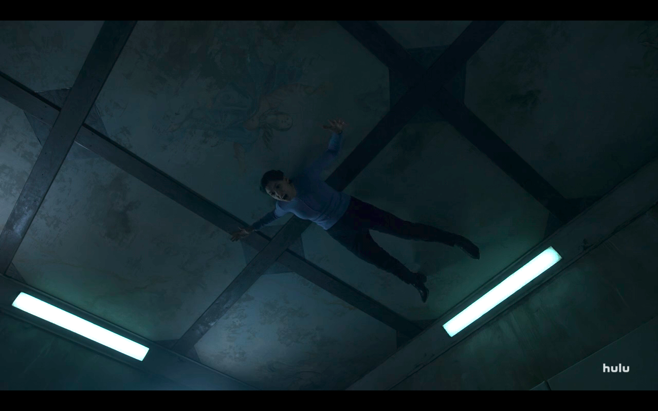 Helstrom S1Ep1 Gabriella on the Ceiling with an Angel