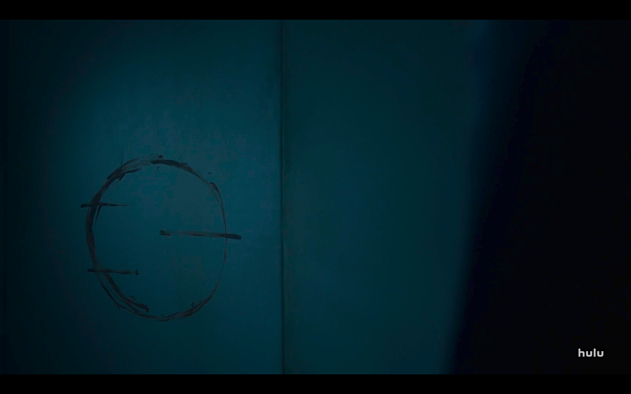 Helstrom S1Ep1 Glyph on Mother's Wall