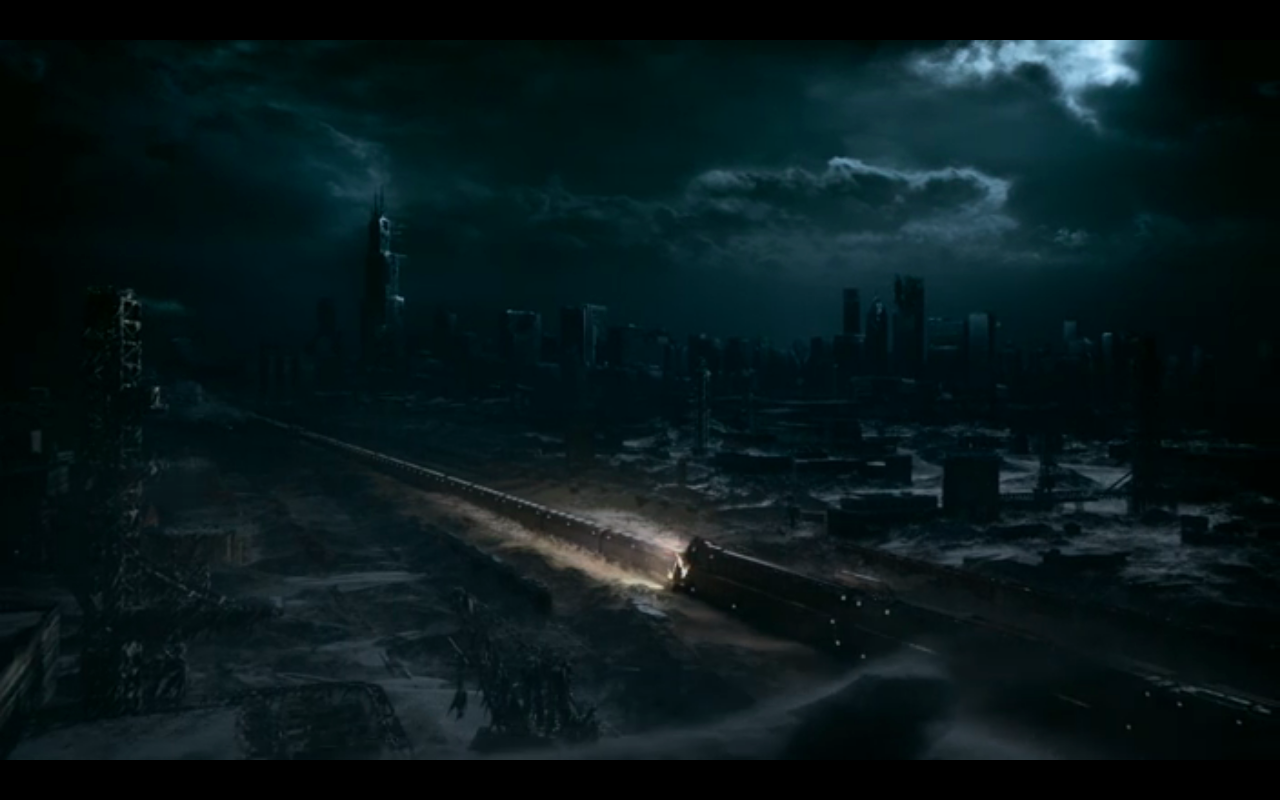 Snowpiercer S1Ep10 Chicago Skyline