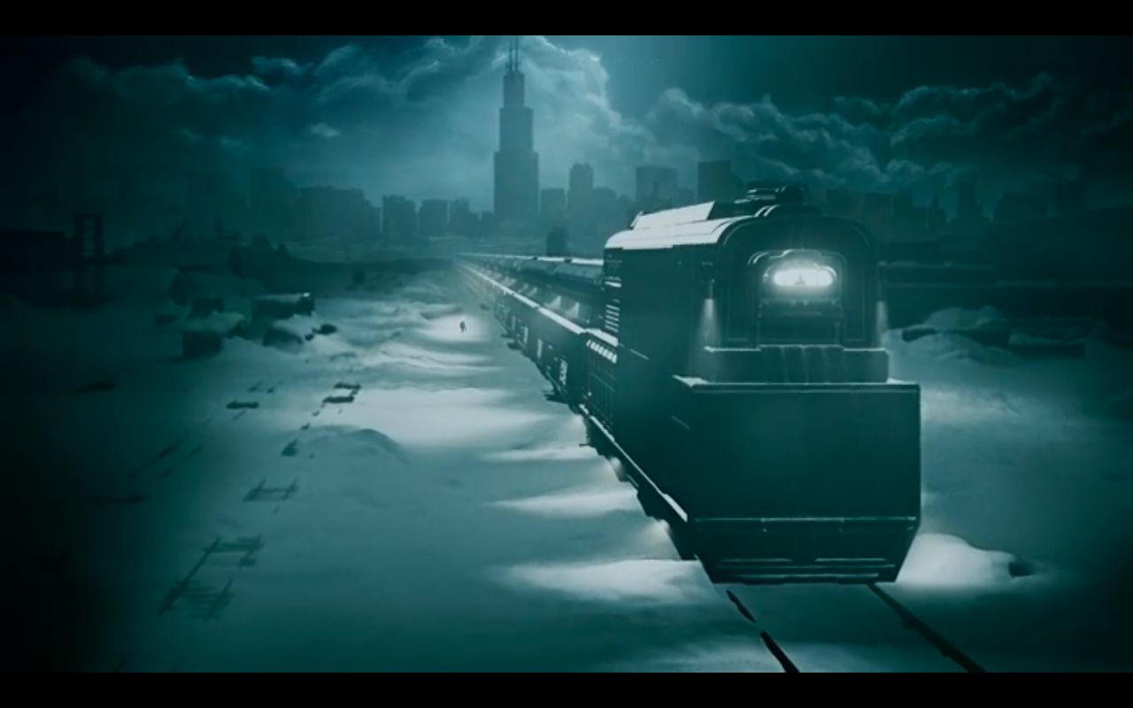 Snowpiercer S1Ep10 Endshot Animation Train & Skyline