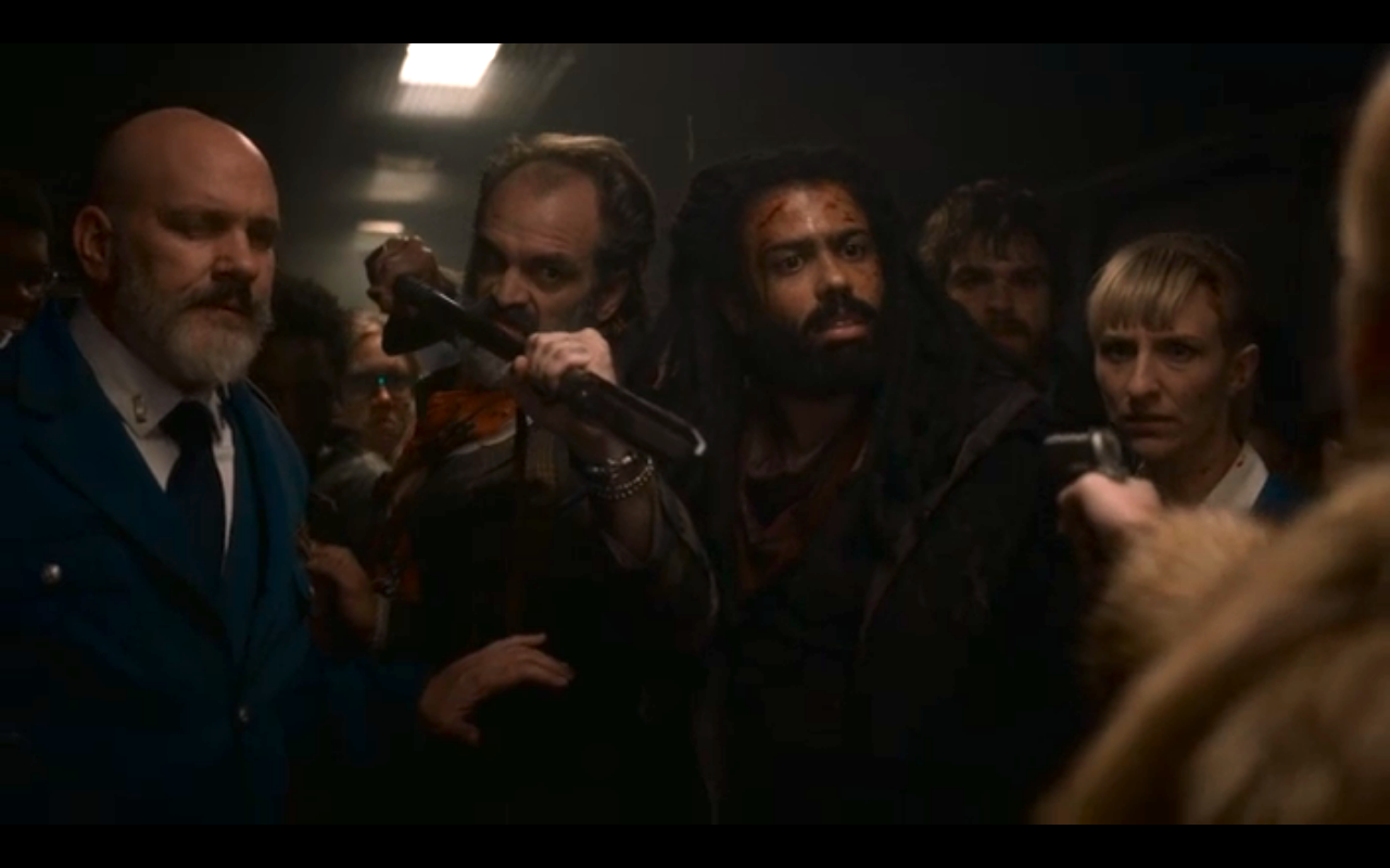 Snowpiercer S1Ep10 Layton Talks Ruth Down