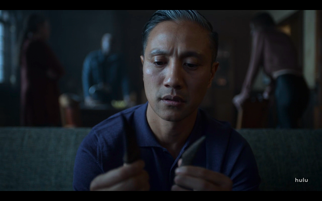 Helstrom S1Ep10 Chris with Knife Pieces