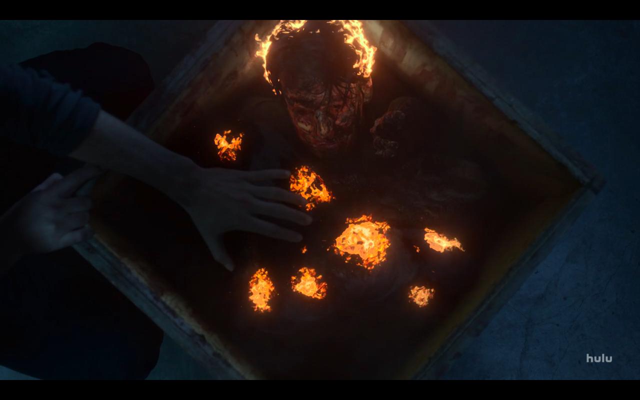 Helstrom S1Ep4 Daimon Cremates Tate's Body