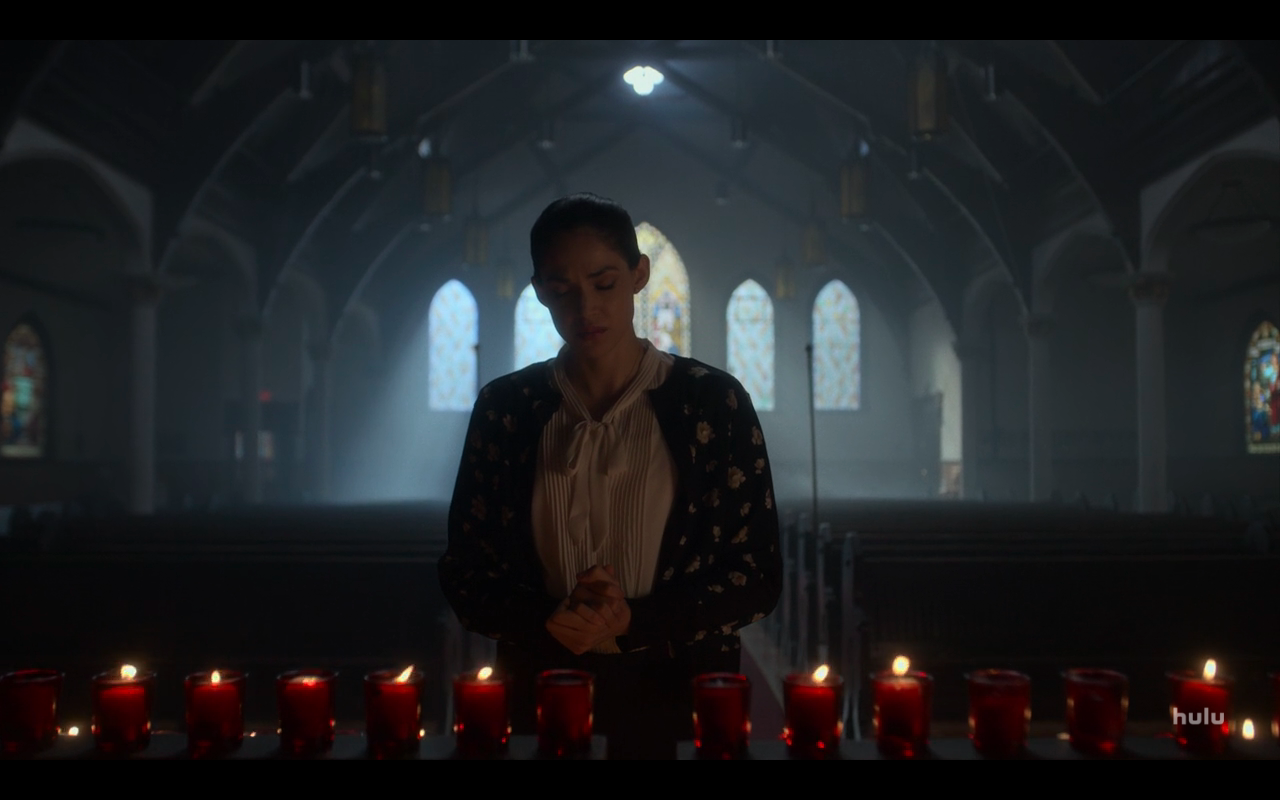 Helstrom S1Ep4 Gabby Lights Candle & Prays