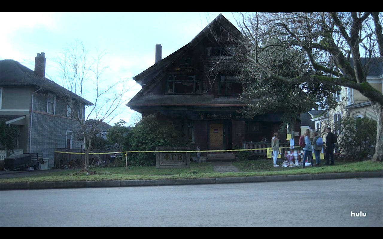 Helstrom S1Ep5 Burned Frat House