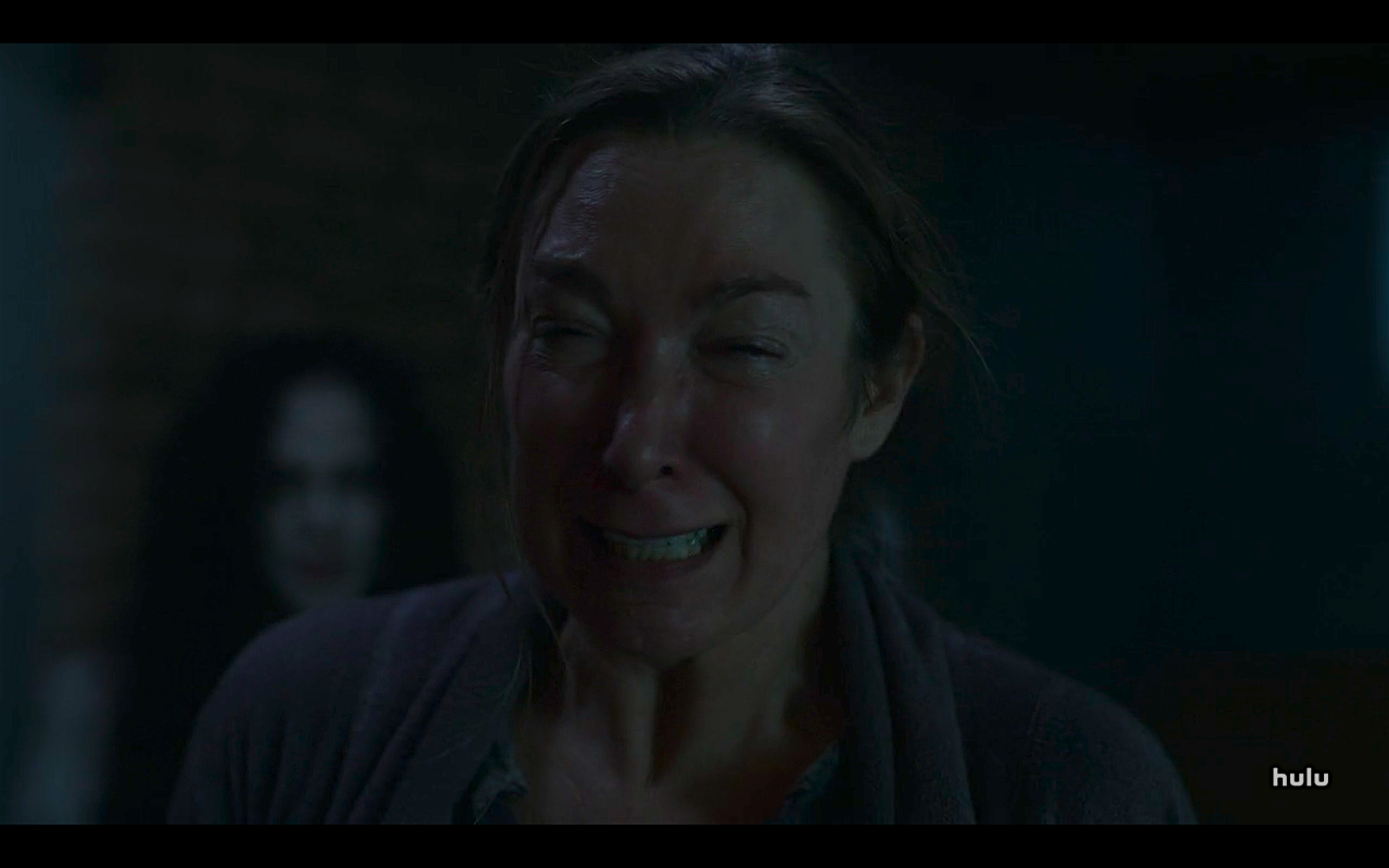 Helstrom S1Ep5 Victoria Cries at Sight of Bloody Daimon