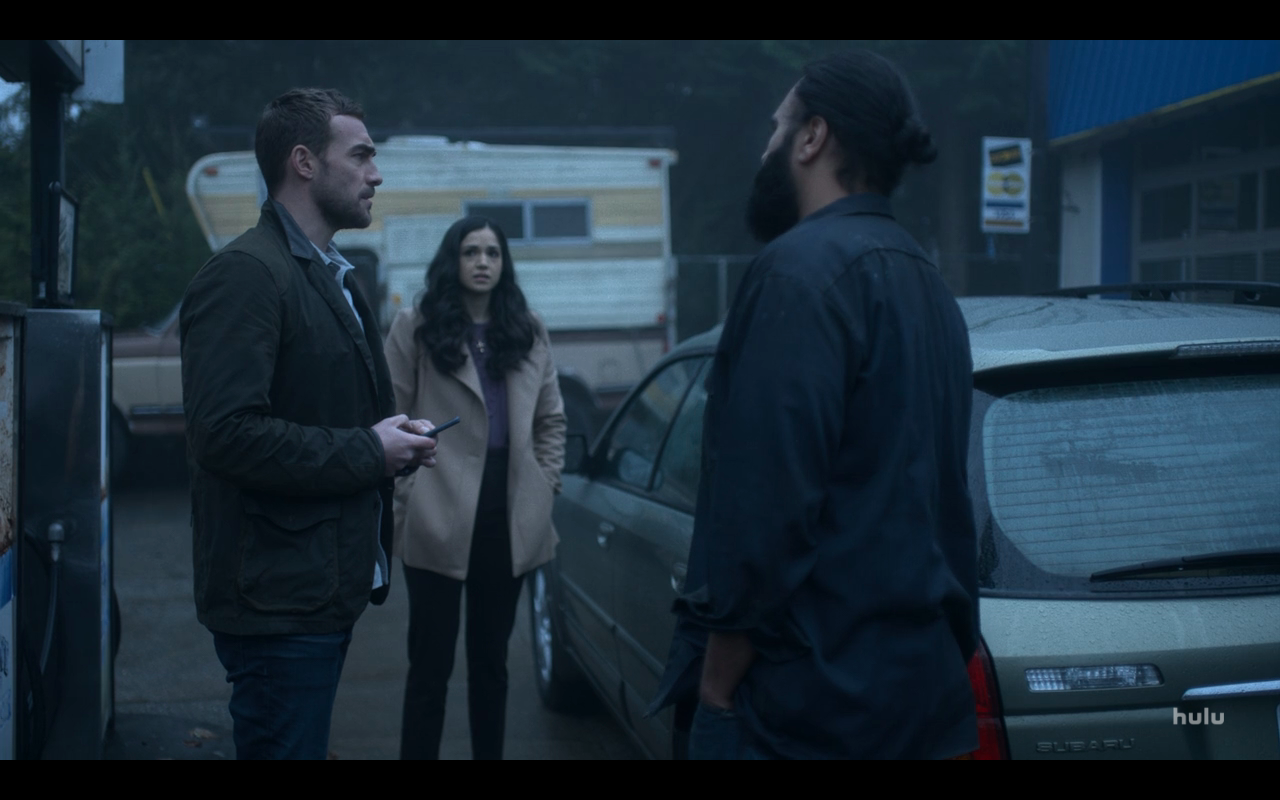Helstrom S1Ep6 Daimon & Gabriella at Gas Station