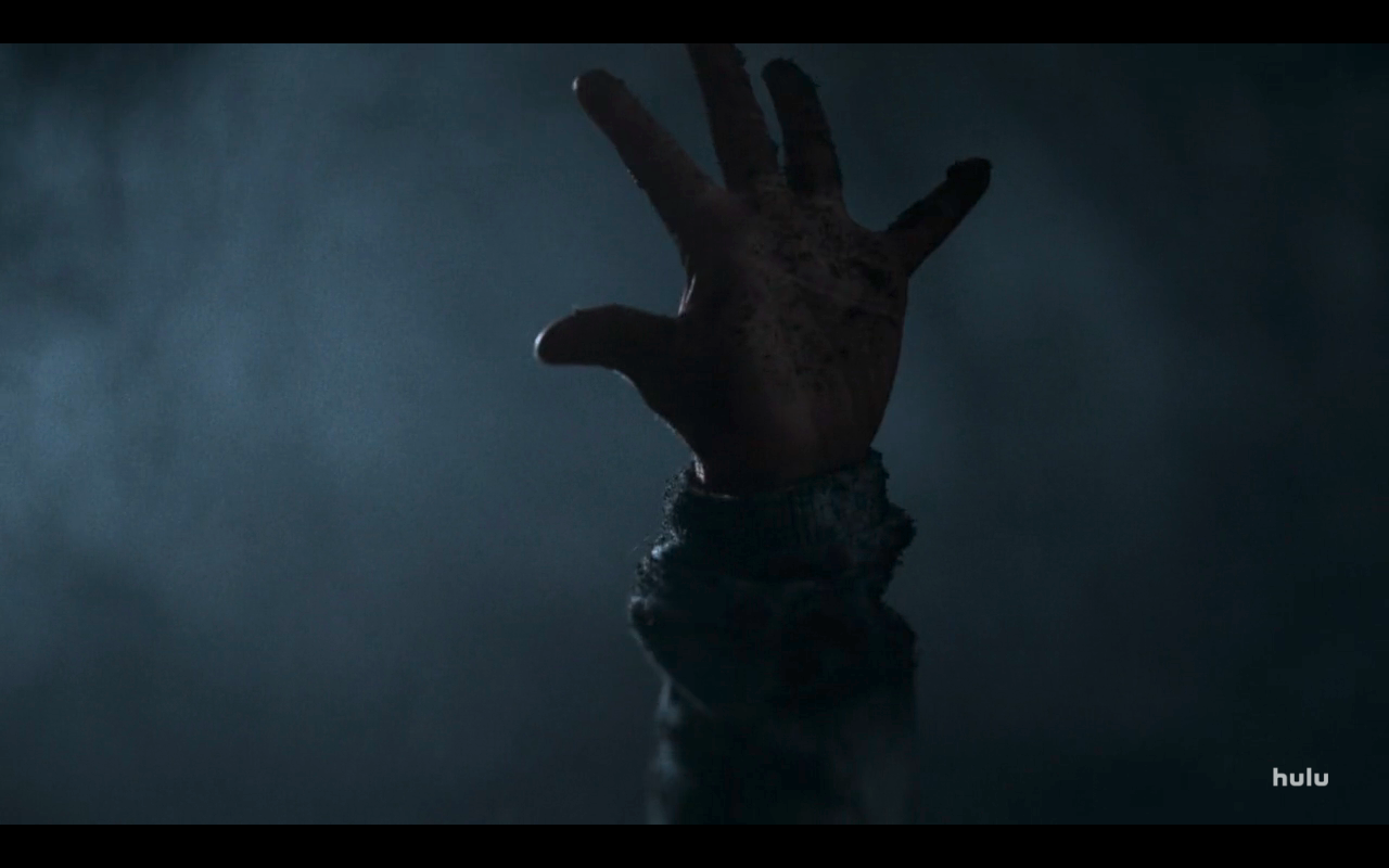 Helstrom S1Ep7 Ana's Hand Pushes Out of Grave