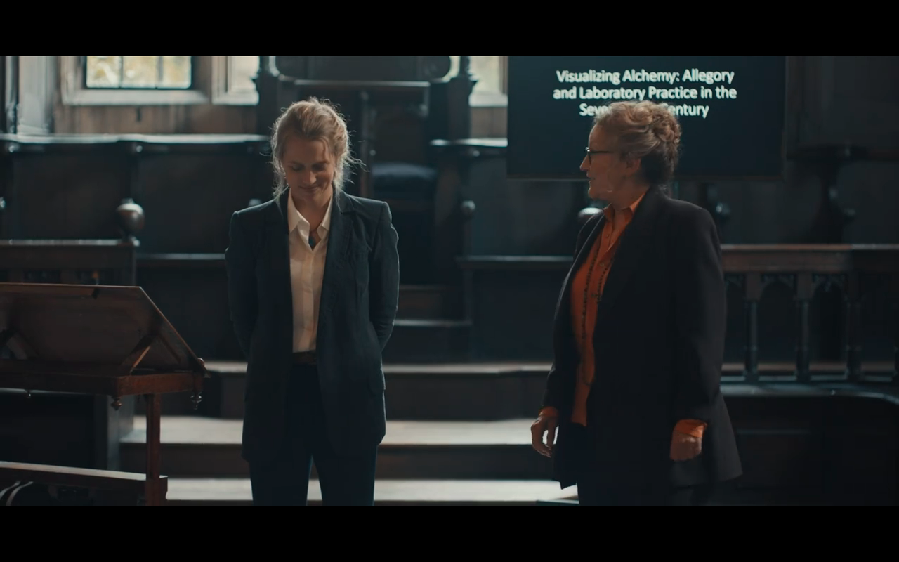 Disc of Witches S1Ep1 Diana & Faculty Head