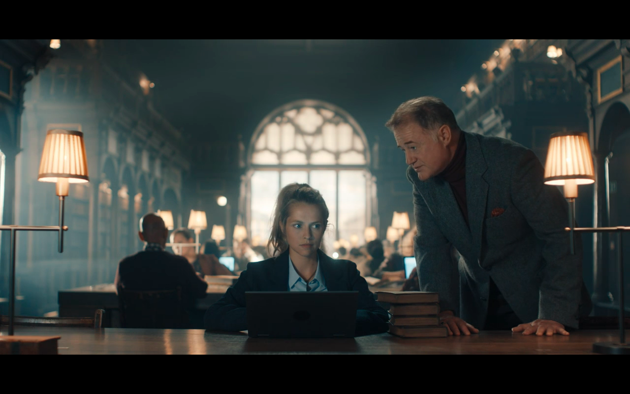 Disc of Witches S1Ep2 Peter & Diana at Library