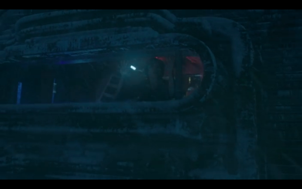Snowpiercer S2Ep6 Alex Waves to Mommy from the Train