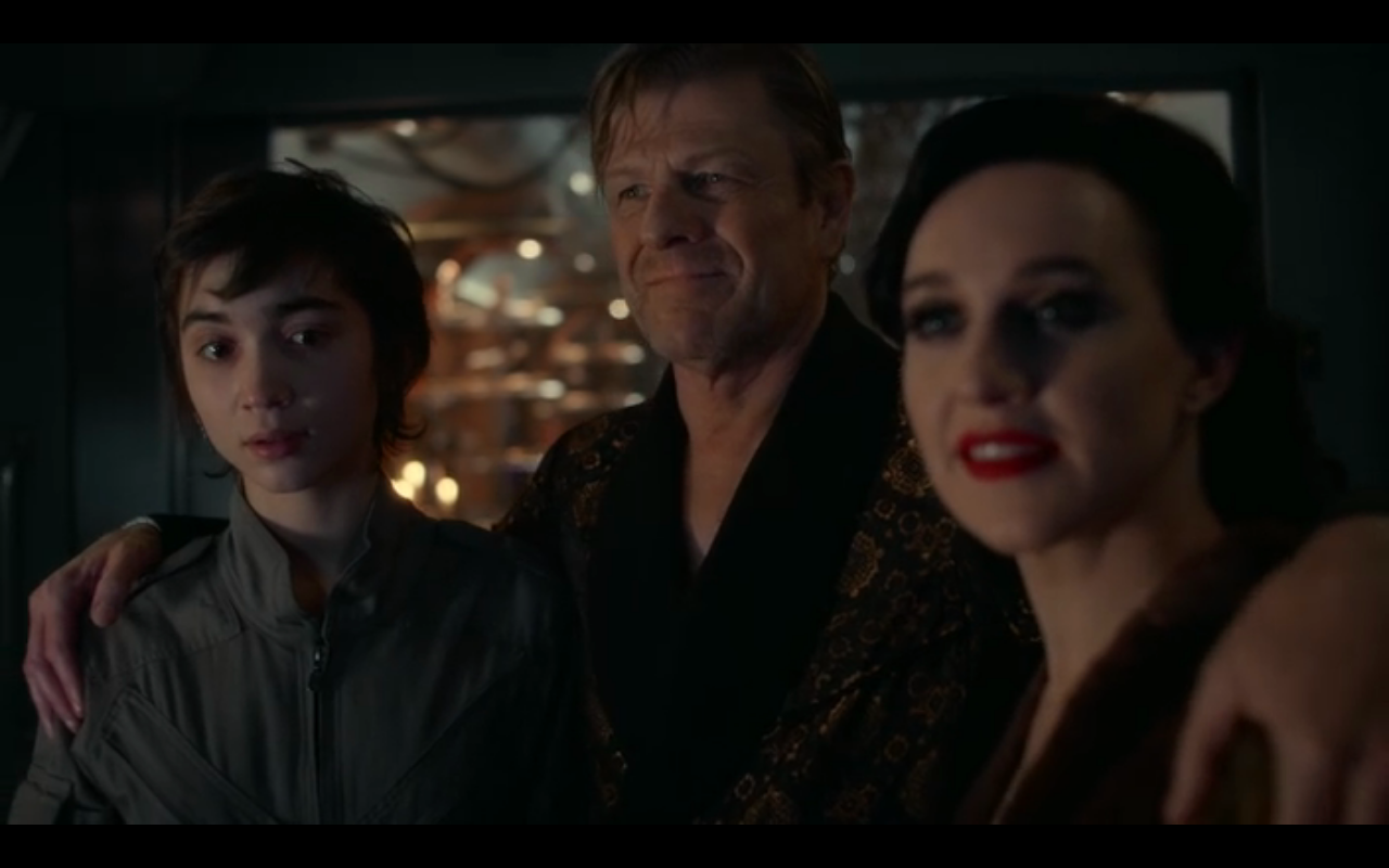Snowpiercer S2Ep7 Alex, Wilford, Audrey- Big Alice's 1st Family