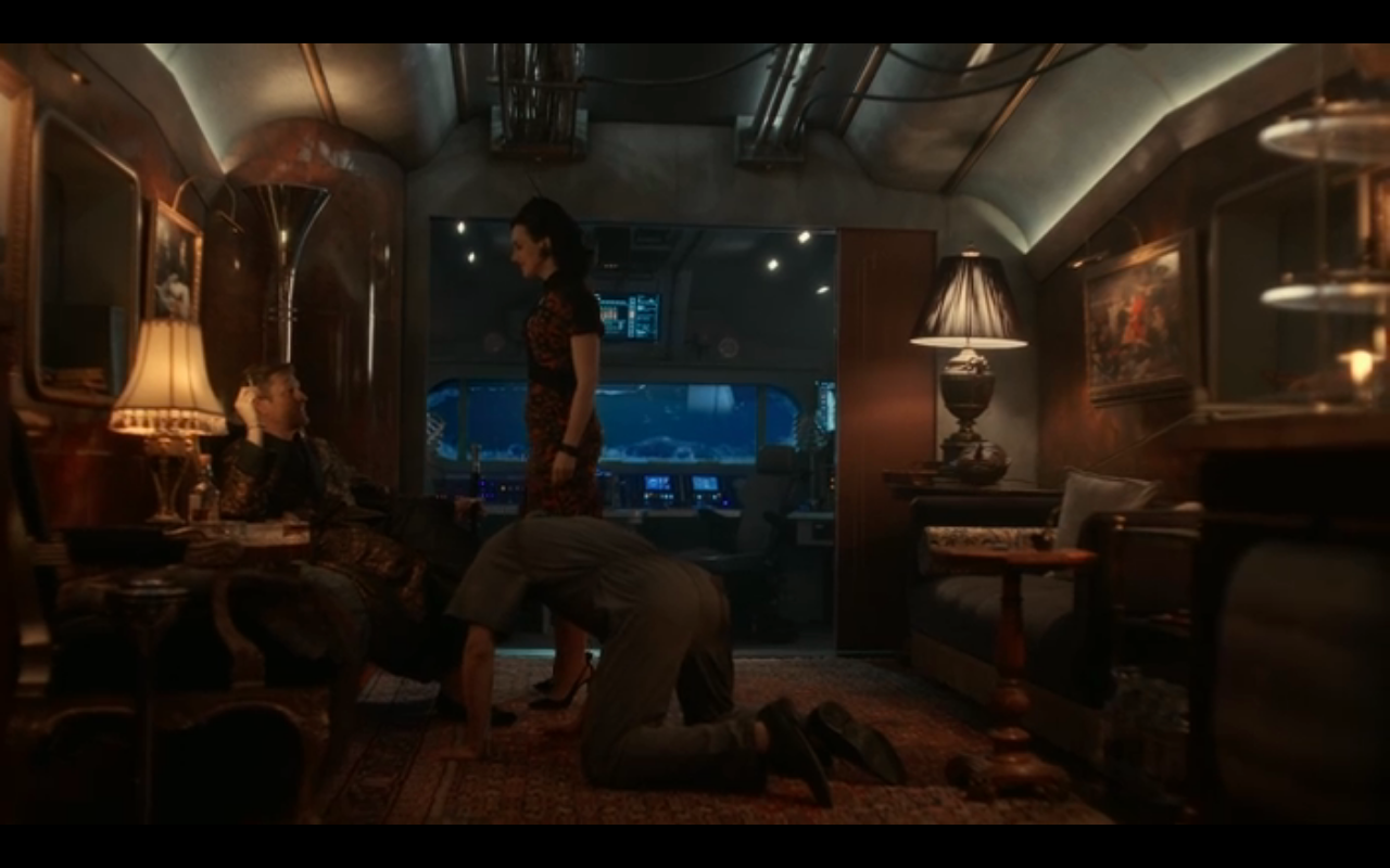 Snowpiercer S2Ep7 Audrey Presents Kevin to Wilford