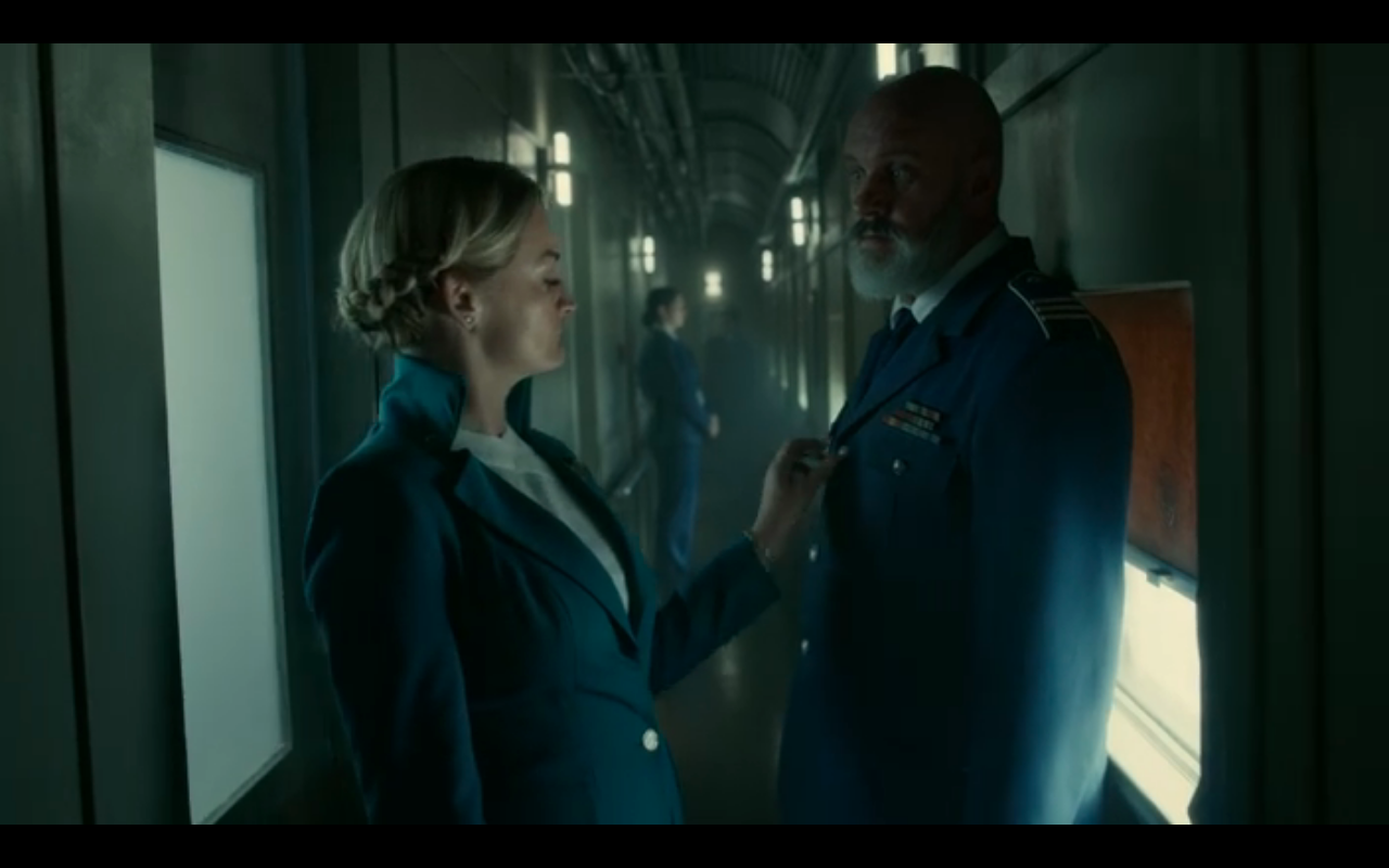 Snowpiercer S2Ep7 Ruth Fusses with Sam's Jacket