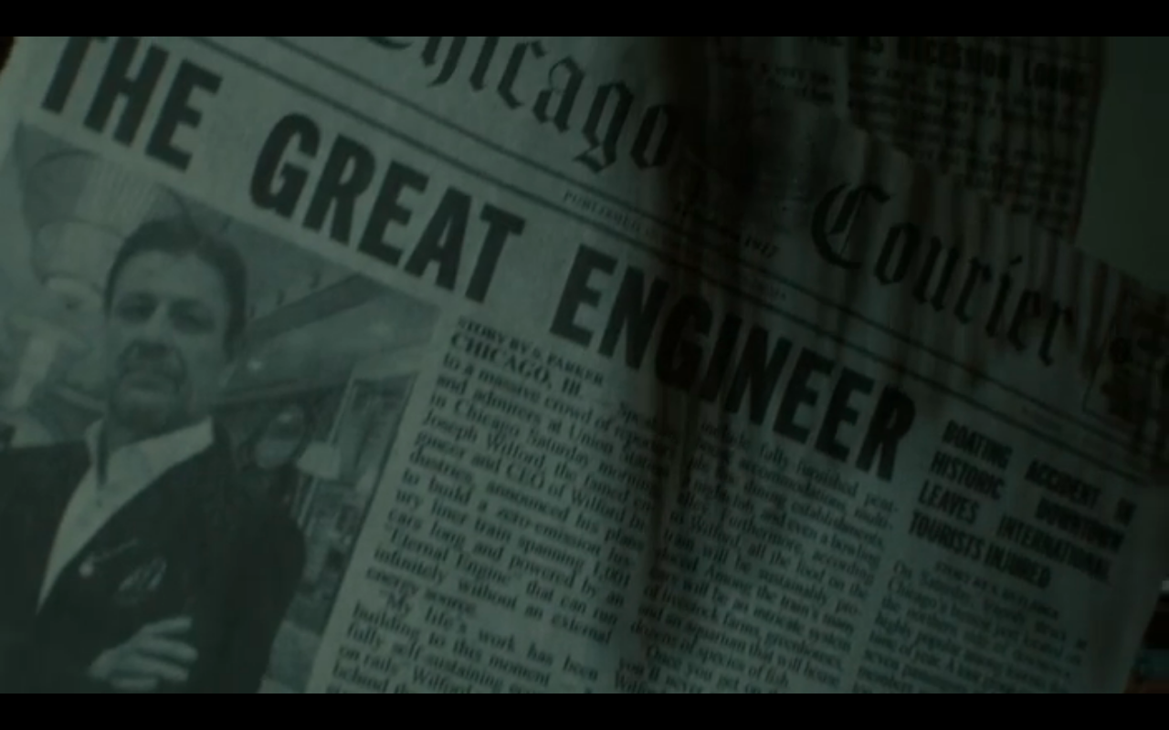 Snowpiercer S2Ep7 Wilford, The Great Engineer