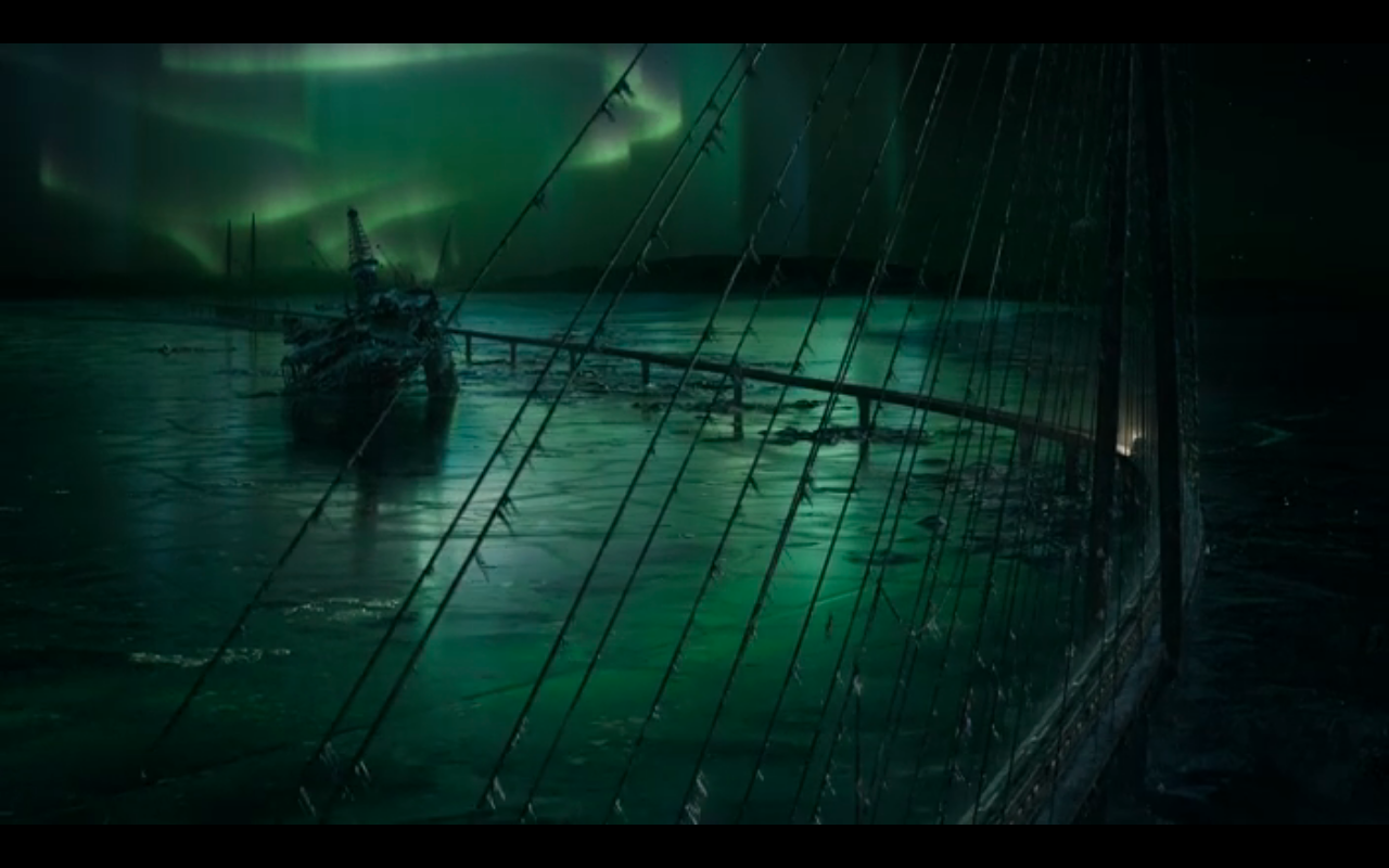 Snowpiercer S2Ep9 Train on Bering Strait Bridge