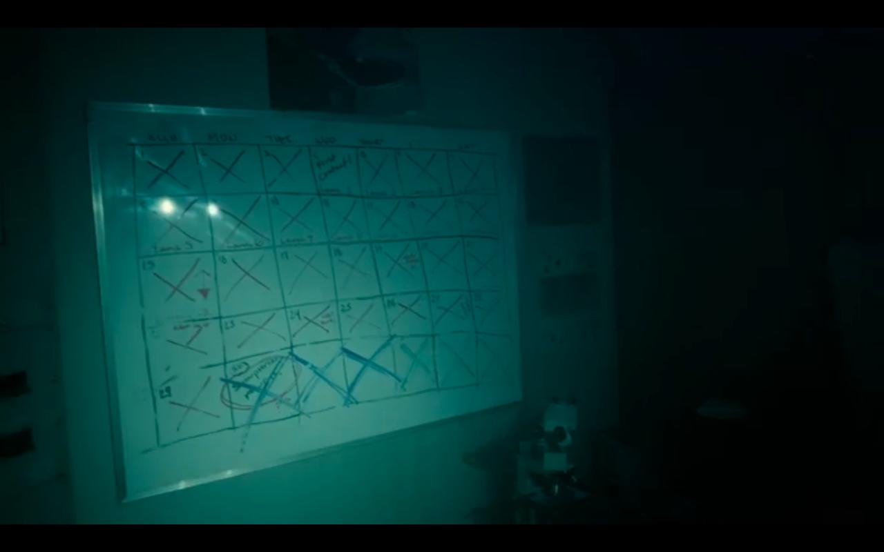 Snowpiercer S2Ep10 Mel's Full Countdown Calendar