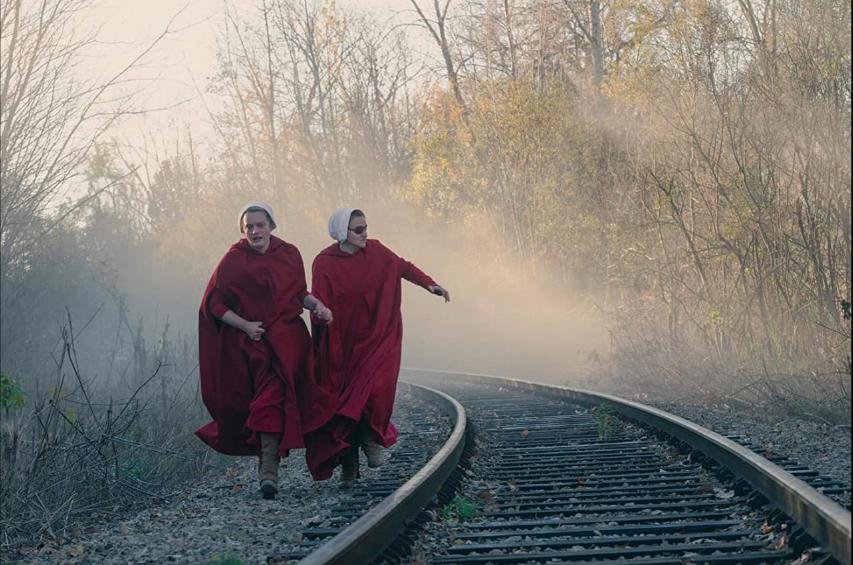 Handmaid's Tale S4Ep4 June & Janine Run on Tracks