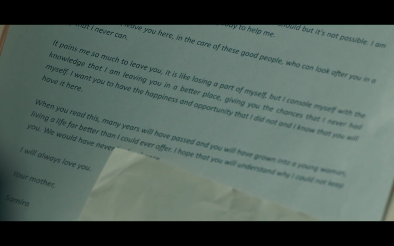 Hanna S2Ep3 Letter from Clara's Mom