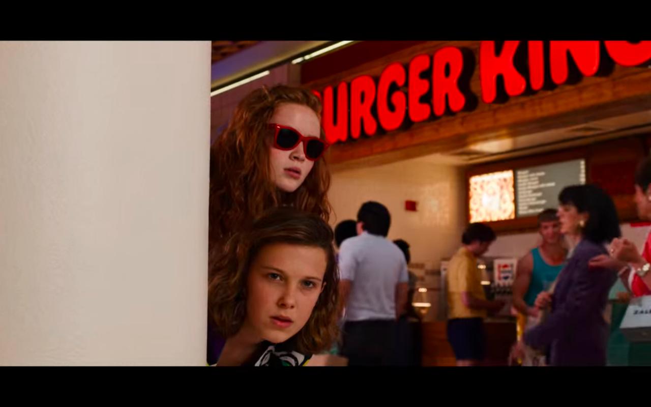 Stranger Things S3Ep2 Max & El at Mall